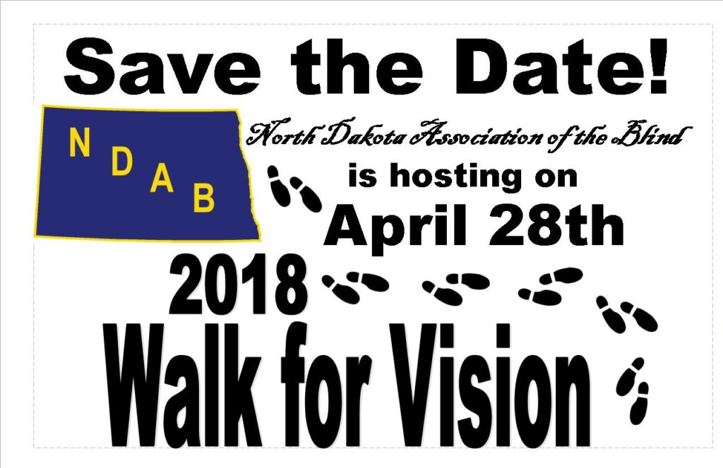 Save the date - Walk for Vision - April 28th 2018